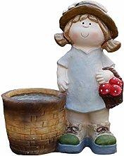 Garden Sculpture Garden Flower Pot Statua