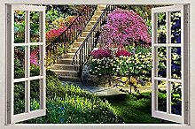 Garden View Window Decal Home Decor Arte murale