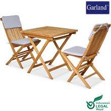 Garland 3pz Salottino Bristol Legno Teak per
