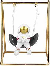 GARNECK Astronauta Statua in Resina Astronauta su
