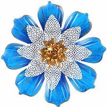 Garneck Blu Scultura di Fiori Appeso A Parete di