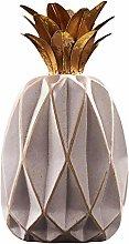GARNECK Figurine di Ananas in Ceramica Ornamento