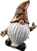 Garneck Giardino GNOME Statua Inverno all'