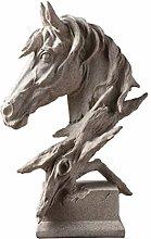 Garneck Mini Testa di Cavallo Statua Scultura