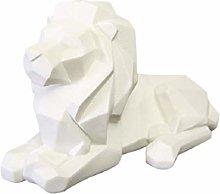 GARNECK Resina Animale Figurine Mini Leone Statua