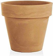 Gartentraum Vaso da Fiori Rotondo in plastica con