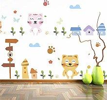 gatti divertenti adesivi murali famiglia dolce per