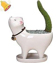 Gatto Ceramica Vasi Succulenti,A Perma Animale