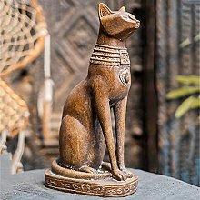 Gatto Egiziano Bastet Statua,Resina Dea Gatto