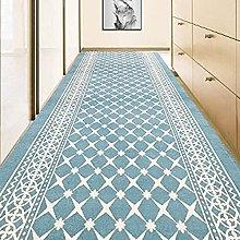 GAXQFEI Hallway Blue Tappeti Runner Lavabile Non