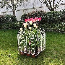 GAXQFEI Recinzione da Giardino Decorativa, Metallo