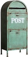 GAXQFEI Statue Di Giardino Sculture Mailbox, Verde