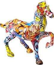 gazechimp Cavallo Figurine in Resina Artigianato