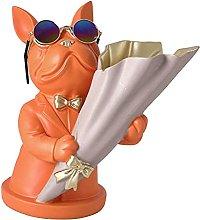 Gazechimp Vaso di Fiori Francese Bulldog Statua