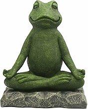 Gazechimp Yoga Meditazione Rana Scultura Statua