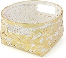 Gelco Design Dore Scatola Portaoggetti, bambù,