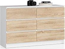 Generico Mobile Ingresso, Cassettiera 6 Cassetti,