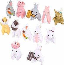 Generico Resina Bunny Figurine Kit Giardino di