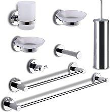 Generico - Set accessori bagno 8 pezzi felce gedy