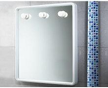 Generico - Specchio bagno 60x70 con luci gedy