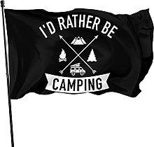 GERERIC Preferirei Essere in Campeggio Bandiera