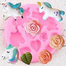 GEYKY Stampi in Silicone Stampo per Fiori Rosa