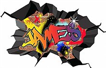 GFRT Adesivo murale 3D Graffiti Personalizzato