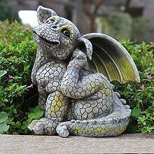 GGYDD Giardino Mostro Statua,Cortile Ornamenti