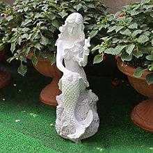 GGYDD Giardino Sirena Principessa Statua,Interna