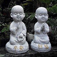 GGYDD Giardino Zen Piccolo Monaco Statua,Antico