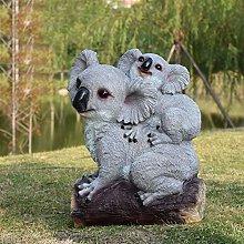 GGYDD Mini Koala Statua,Carino Giardino