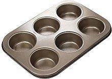 GHBOTTOM 6 fori antiaderente cupcake stampo muffin