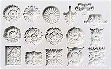 GHBOTTOM - Stampo in silicone a forma di fiore