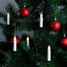 Ghirlanda di candele a 16 LED per albero di Natale