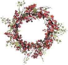 Ghirlanda di Natale artificiale di bacche rosse 42