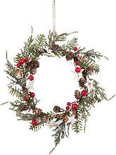 Ghirlanda di Natale con effetto smerigliato 18x18