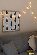 Ghirlanda di Natale Led (2,20 m) Abete Bianco
