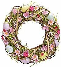 Ghirlanda Di Pasqua 34x8x34 cm Rosa