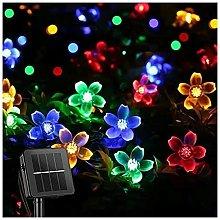 Ghirlanda luminosa a energia solare, 50 LED, 8