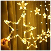Ghirlanda luminosa con stelle e 12 stelle, 138
