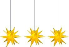 Ghirlanda luminosa stelle interni, 3 luci, giallo