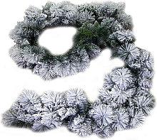 Ghirlanda Natalizia innevata cm.270 - Bianco