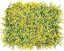 GHLSDXTJ SIEPE Finta Artificiale Faux Green Leaf