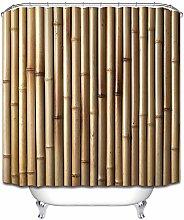 Giallo bambù semplicità doccia tenda bagno tenda