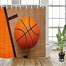 Giallo bordo di legno arancione basket tenda