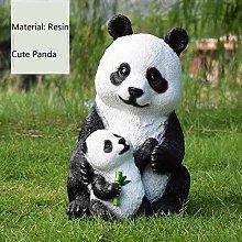 Giardino esterno Panda Ornamento Giardino esterno