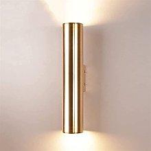 GIOAMH Lampada da parete moderna a cilindro dorato