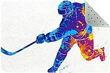 Giocatore di hockey, Cucina Mat Tappeto Cucina