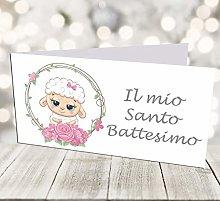 Giomel Bigliettini Battesimo Bomboniera Sacchetti