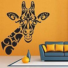 Giraffa Adesivo murale Fiore tribale Stile retrò